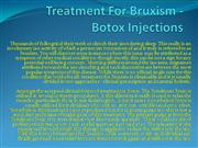 Treatment For Bruxism - Botox Injections