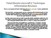 Total Shockz starcraft 2 Technique Guidebook Evaluations