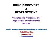 drug discovery and development: instrumental methods