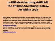Is Affiliate Advertising Artificial