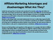 Affiliate Marketing Advantages and disadvantages What Are They