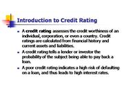 Credit-Rating agencies