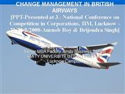 change management in british airways 2008