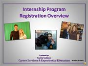 internship registration overview