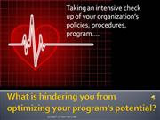 What is hindering you from optimizing your program's