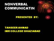 PPT on verbal and nonverbal communication
