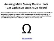 Amazing Make Money On-line Hints - Get Cash