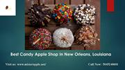 Candy Apple Shop In New Orleans