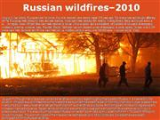 Russian Wildfires–2010