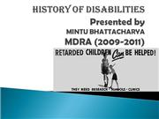 History of Disability Rehabili