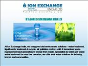 ION EXCHANGE (INDIA) LTD