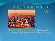 Causes of revolt of 1857