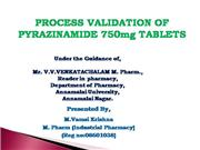 process validation of pyrazinamide