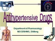 antihypertensive drugs - drdhriti