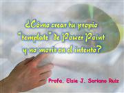 C�mo preparar tu Template de Power Point