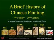 a brief history of chinese painting