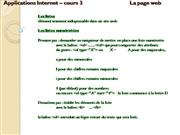 Cours3- AppInternet- H10- list- img- tabl