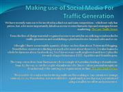 Making use of Social Media For Traffic Generation