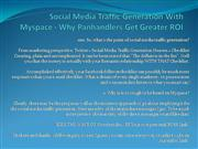 Social Media Traffic Generation With Myspace - Why