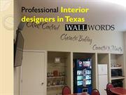 Professional interior designers in Texas - Wall Words