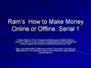 how to Make Money Online- Serial 1