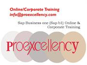 SAP Business One Online & Corporate Training