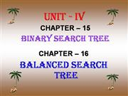 Binary Search Tree (chapter-15)