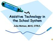 Assistive Technology in the School System-Voice