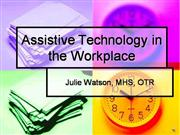 Assistive Technology in the Workplace-Voice