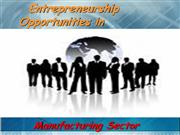 Entrepreneurship                             Opportunities in