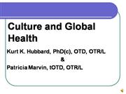 Culture and Global Health