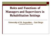 Roles of Managers 2010