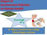 Impact of Environment Pollution on Human Health