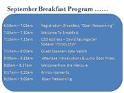 September_Breakfast_ program