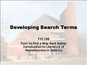 developing search terms