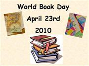 World Book Day-April 23rd