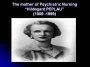 The mother of Psychiatric Nursing 2o