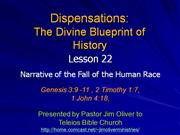 Dispensations Lesson 21