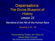 Dispensations 22