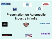 AUTOMOBILE SECTOR PRESENTATION