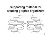Supporting material for creating graphic organizers
