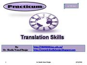 Translation Skills by Dr. Shadia Yousef Banjar