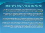 Improve Your Alexa Ranking