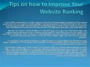 Tips on how to Improve Your Website Ranking