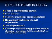 REAILING TRENDS IN THE USA