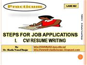 STEPS FOR JOB APPLICATIONS by Dr. Shadia Yousef Banjar