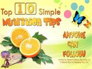 Top 10 Simple Nutrition Tips