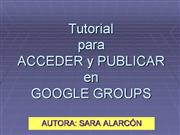 Tutorial para GoogleGroup