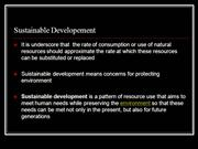 sustainable developement