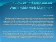 Review of Jeff Johnson an World wide web